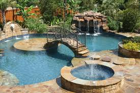 Small Tropical Backyard Ideas Small Bridge Using Metal Railing For Luxury Backyard Ideas With