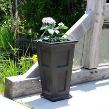 plastic square garden tall planters boxes ebay