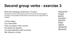 french regular verbs second group ir present tense
