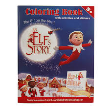 amazon com an elf u0027s story coloring book toys u0026 games