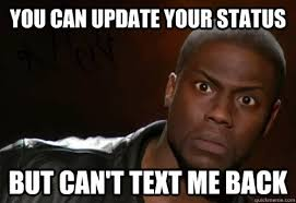 update your status funny kevin hart meme