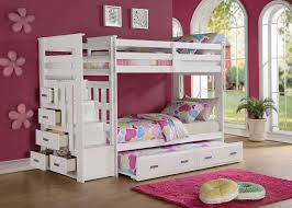 White Bunk Bed With Stairs White Twin Over Twin Bunk Bed With Stairs Home Design Ideas