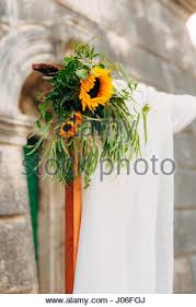 Wedding Arches In Church Wedding Arch Of Sunflowers The Ceremony At The St Nikola Church