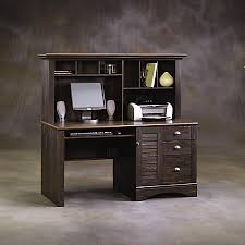 sauder harbor view collection computer desk with hutch antiqued