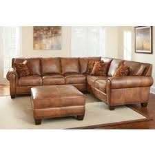 Leather Sectional With Chaise And Ottoman Sanremo Top Grain Leather Sectional Sofa And Ottoman Set By