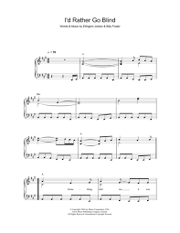 I D Rather Go Blind Cover James Blunt Sheet Music To Download And Print World Center Of