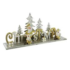 gold and silver christmas mantel decoration gifts handpicked
