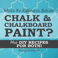 chalk paint vs chalkboard paint diy recipes the diy mommy