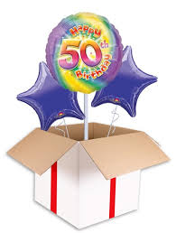 50th birthday balloon delivery colourful 50th birthday balloon delivered inflated in uk