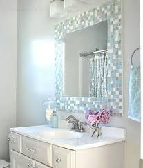 exellent bathroom ideas mosaic shell tiles backsplash and decorating