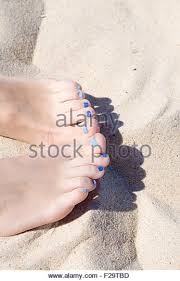 woman blue nail polish feet stock photos u0026 woman blue nail polish