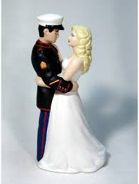 marine wedding cake toppers marine groom personalized wedding cake toppers