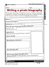 ks2 literacy biography and autobiography writing a pirate biography primary ks2 teaching resource scholastic