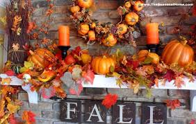 interior looking decorations fall thanksgiving fireplace