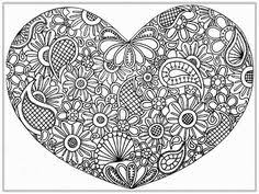 hearts abstract doodle zentangle zendoodle paisley coloring pages