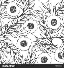Poppy Home Decor by Poppy Flower Vector Seamless Pattern Hand Drawn Doodle Ink Floral