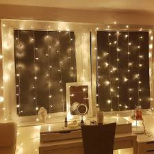 le curtain lights 3x3m 306 leds 8 modes window curtain icicle