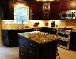 beautiful mocha maple shaker cabinets and exotic normandy granite