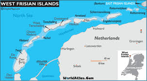 netherlands beaches map frisian islands map and map of the frisian islands history