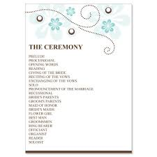 wedding program layouts blue brown wedding program templates do it