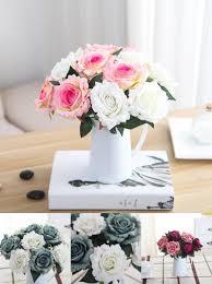 flower arrangements home decor visit to buy 1pc beautiful silk flower artificial rose fake