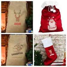 personalised or santa sack childrens