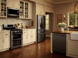 modern kitchen with black appliances photos lg appliances hgtv