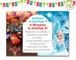 wallpaper frozen birthday frozen and card themed of boy girl twin birthday invitation