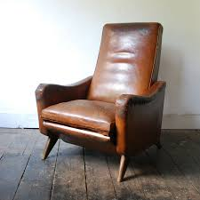 1950 u0027s reclining leather club chair mid century armchair