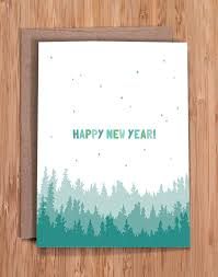 happy new year this simple and sweet nature inspired a2 card 4 x