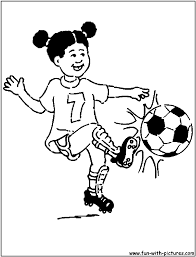 playing soccer coloring