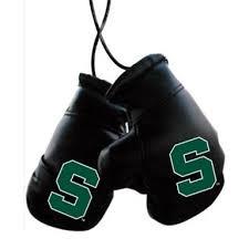 michigan state spartans mini boxing gloves ornament
