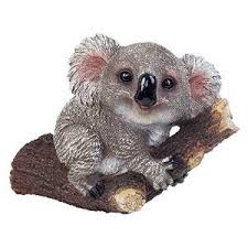 koala on a branch garden ornament for tree or wall mount
