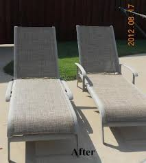 Replacing Fabric On Patio Chairs Agio Chaise Replacement Slings Using Our Chesterfield Fabric In Texas