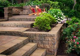 Terraced Retaining Wall Ideas by Paver Manufacturer Belgard Paver Wall Celtik Wall Color