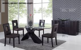 dining room tables glass top nella vetrina elle modern round lacquered black wood dining table