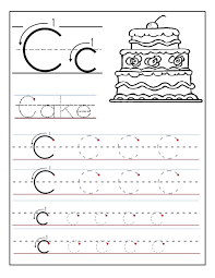 Preschool Worksheet Trace The Letter C Worksheets Activity Shelter Alphabet And