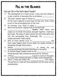 flood facts worksheets u0026 information for kids