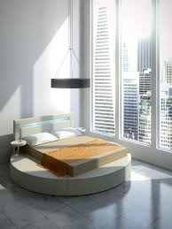 Platform Beds White Palazzo Round Platform Bed In Leatherette White