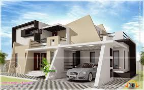 home design floor plan and elevation of 1925 sqfeet villa kerala