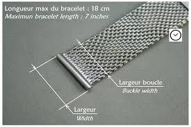 bracelet mesh images Bracelet montre acier mesh maille milanaise largeurs 16 18 20 jpg