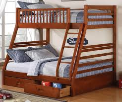 Wooden Twin Over Full Bunk Bed With Stairs  Build A Twin Over - White bunk beds twin over full with stairs