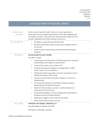autocad drafter resume resume for your job application