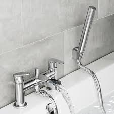 bathroom shower heads and taps home design ideas cela waterfall bath shower mixer tap with hand held shower head part 33