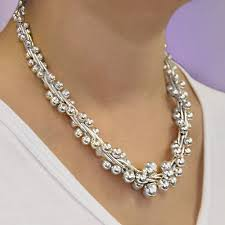statement necklace sterling silver images Peppercorn graduated statement necklace in sterling silver jpg