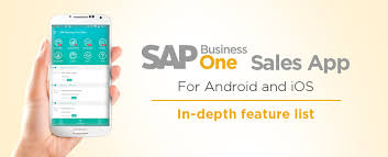 app for android sap business one sales app for android and ios in depth feature list