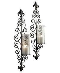 accessories awesome large brass candle wall sconce with curly