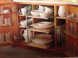 Kitchen Cabinet Organizing Shelf Wood Pull Out Organizers With Soft Close Slides For Kitchen