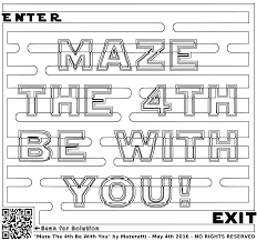 coloring pages for grown ups star wars maze clipart
