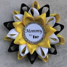 yellow baby shower decorations bee baby shower decorations black and yellow baby shower corsages